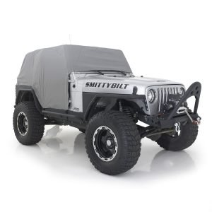 Smittybilt CAB COVER W/DOOR FLAP - WATER RESISTANT - GRAY   JEEP, 92-06 WRANGLER (YJ/TJ/LJ) 1061