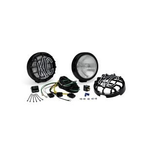 """6"""" SlimLite Halogen Pair Pack System - Black - KC #127 (Fog Beam)"""