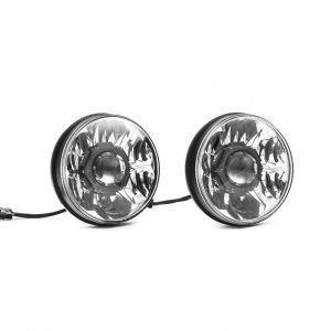 "Gravity LED Pro 7"" Headlight DOT Jeep JK 07-18 Pair Pack System - KC #42341"