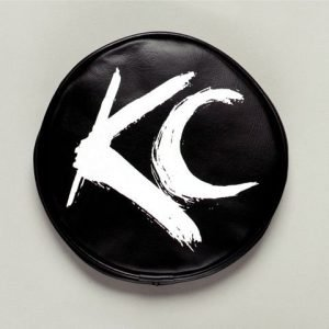 "6"" Vinyl Cover - KC #5117 (Black with White Brushed KC Logo)"