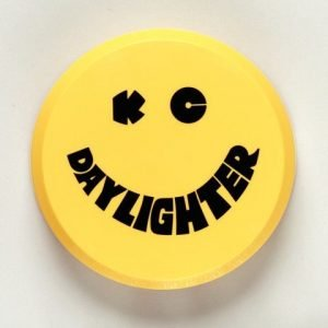 """6"""" Plastic Cover - KC #5202 (Yellow with Black KC Daylighter Logo)"""