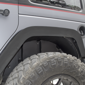 Go Rhino - 702002T - Jeep JK Rear Wheel Well Inner Fender Liners, Black Textured Alum Pair