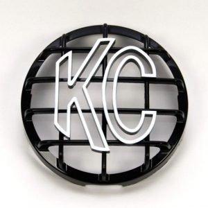 """6"""" Stone Guard - KC #7210 (Black with White KC Logo)"""
