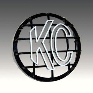 """8"""" Stone Guard - KC #7214 (Black with White KC Logo)"""