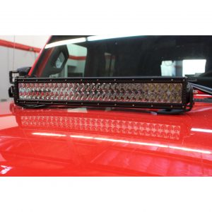 Go Rhino - 732200T - Jeep Wrangler JL & JLU Center Hood Mount 20in Double Row LED Bar