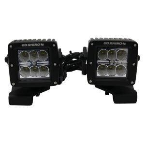 Go Rhino - 732230T - Jeep Wrangler JL & JLU Center Hood Mount for 3 inch Cube LED Lights
