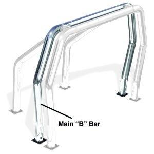Go Rhino - 91002C - Go Rhino! Bed Bars - inBin Main Bar