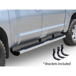 Go Rhino - 686403580PS - 6in OE Xtreme Stainless SideSteps Kit - 80in Long + Brackets
