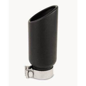 Go Rhino - GRT234410B - Black Powder Coated Stainless Steel Exhaust Tip