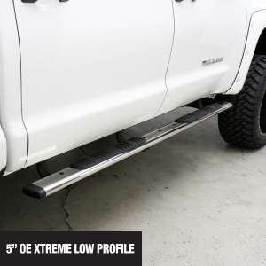 Go Rhino - 685490471PS - 5in OE Xtreme Low Profile SideSteps Kit - 71in Long Stainless Steel + Brackets