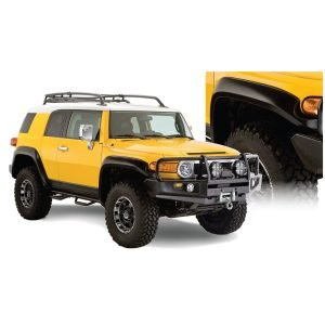 Bushwacker 31924-02 Black Extend-A-Fender Style Smooth Finish 4-Piece Fender Flare Set for 2007-2014 Toyota FJ Cruiser