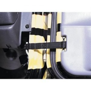 Smittybilt DOOR STRAP - ADJUSTABLE - PAIR - BLACK UNIVERSAL 769401
