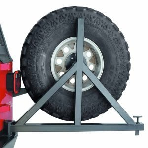 Warn Center Kit Black With Mount Bracket.  Spare Tire Carrier